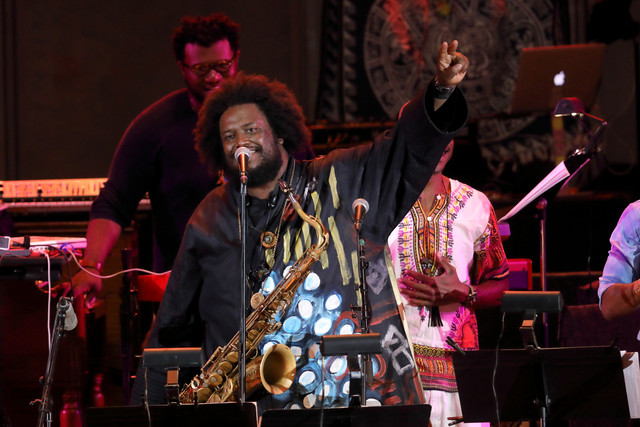 Photo Kamasi Washington at the Hollywood Bowl